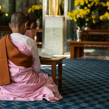 In a Buddhist Nunnery - Myanmar