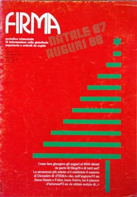 Rivista Firma n° 4 - Dicembre 1987